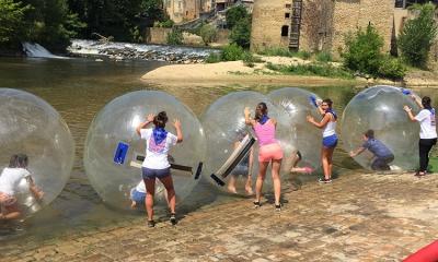 bulles sur l'eau, teambuilding