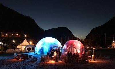 acheter un igloo gonflable transparent