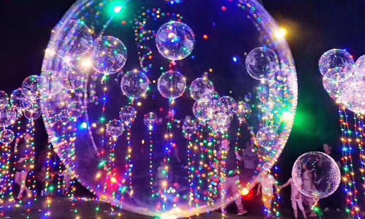 Ballons transparents lumineux