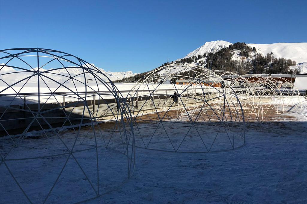 Cabane transparente à la Plagne